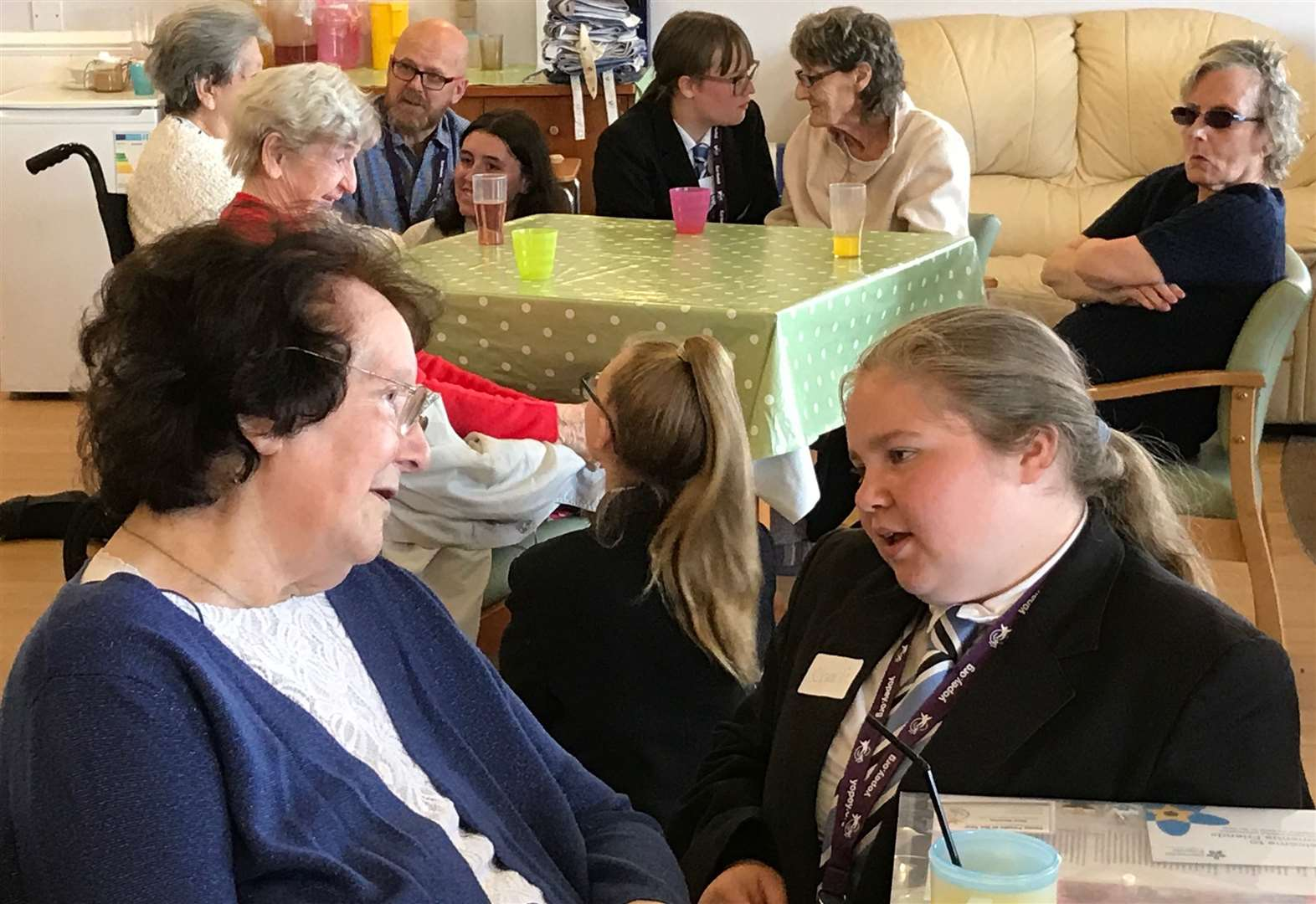 Teenage students befriending skills bring more joy to care home residents with dementia