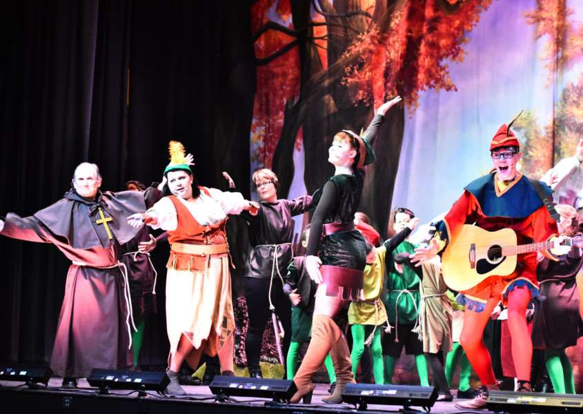 Robin Hood and the Babes in the Wood opens tonight in the Carnegie Room in Thetford. Picture by Guy Wisdom
