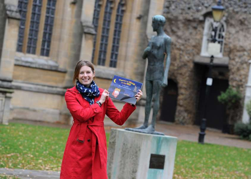 Hatty Ashton, 24, of Bury St Edmunds, has published her own book There's a Head in My Bed aimed at three to seven-year-olds which tells the story of what happens to St Edmund's head before it is discovered. ANL-161114-162459009