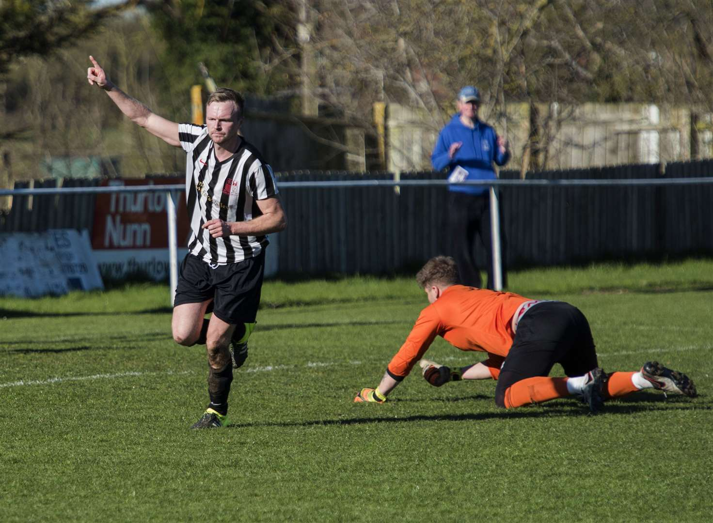 Long Melford v Walsham Le Willows..Melford level the scores with goal from David Lorimer 1-1..Picture Mark Westley. (8469194)