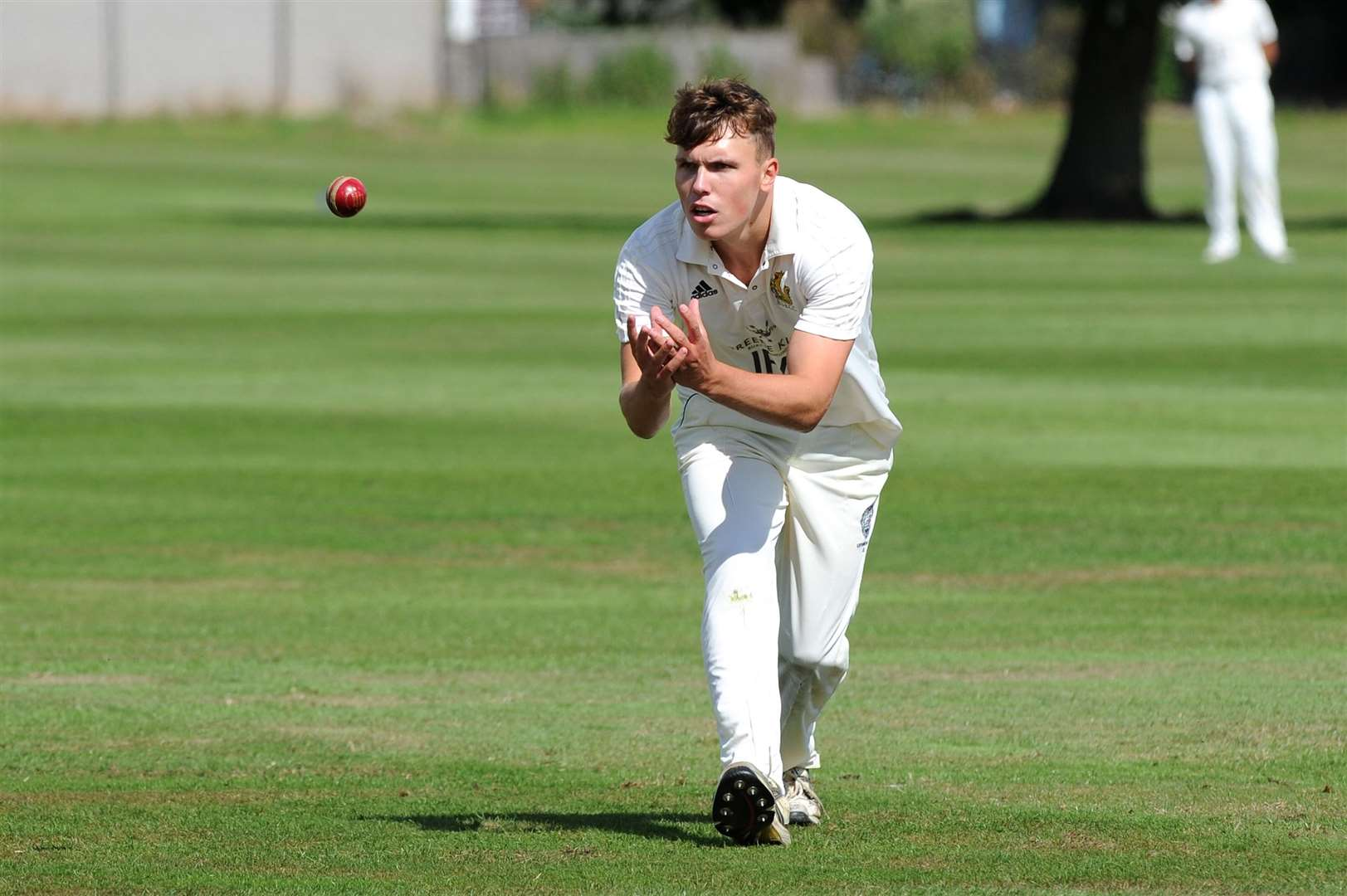 CRICKET - Bury St Edmunds (Bowling) v Horsford..Pictured: George Loyd...PICTURE: Mecha Morton... .. (12566558)