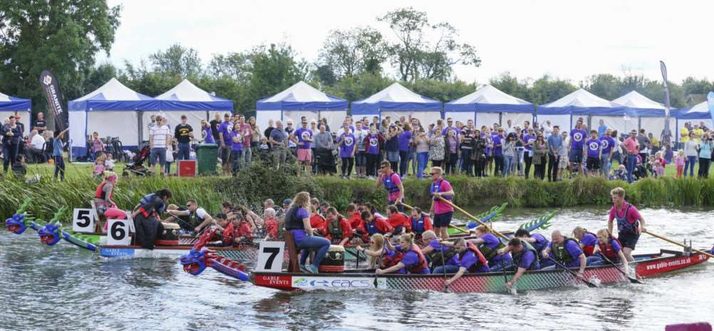 Racing at the Cambridge Dragon Boat Festival. Picture: Gable Events