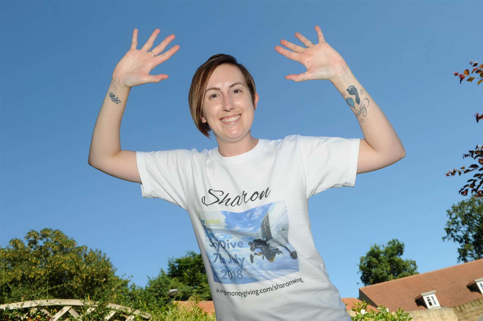 Sharon Wing is doing a 13,000ft skydive to raise money for pregnancy loss charity TimeNorfolk. Picture: Mecha Morton