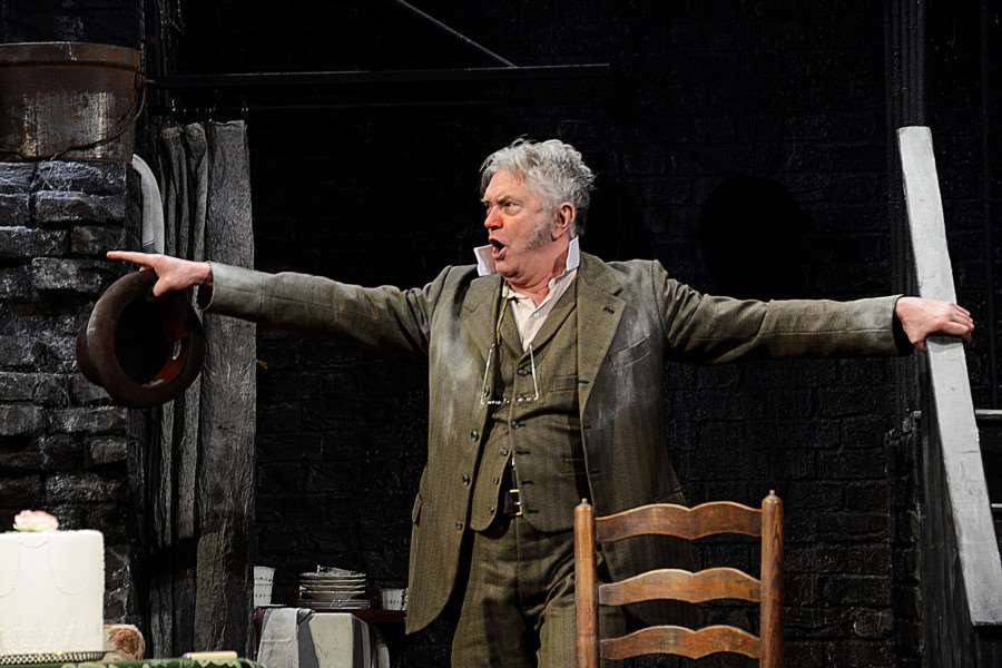 Martin Shaw as Henry Hobson in Hobson's Choice. Picture: Nobby Clark ANL-160203-155704001