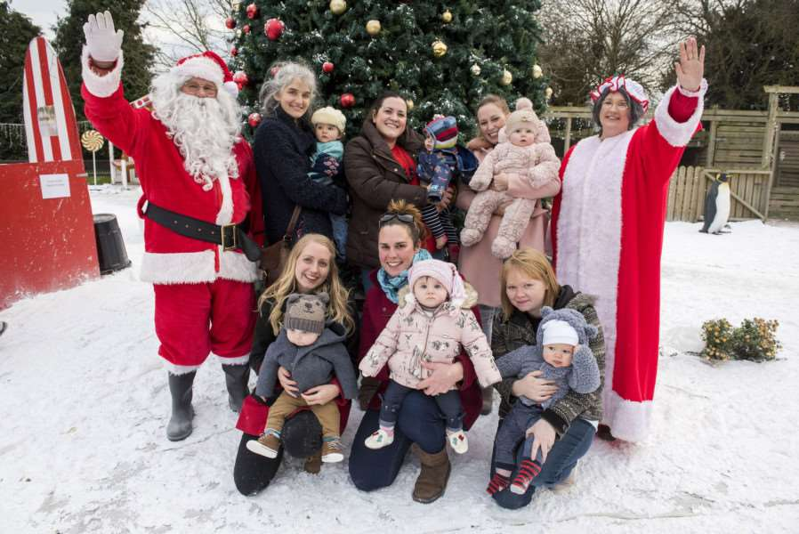 RISBY: Winter Wonderland at Risby Hall and Park's gardens'Risby Hall and Park gardens, Hall Lane'Penguins, reindeer, a carousel, ice rink, snow globe, performers,'Father Christmas and elves.'ABC Childminding Group Morton Hall'Picture Mark Westley