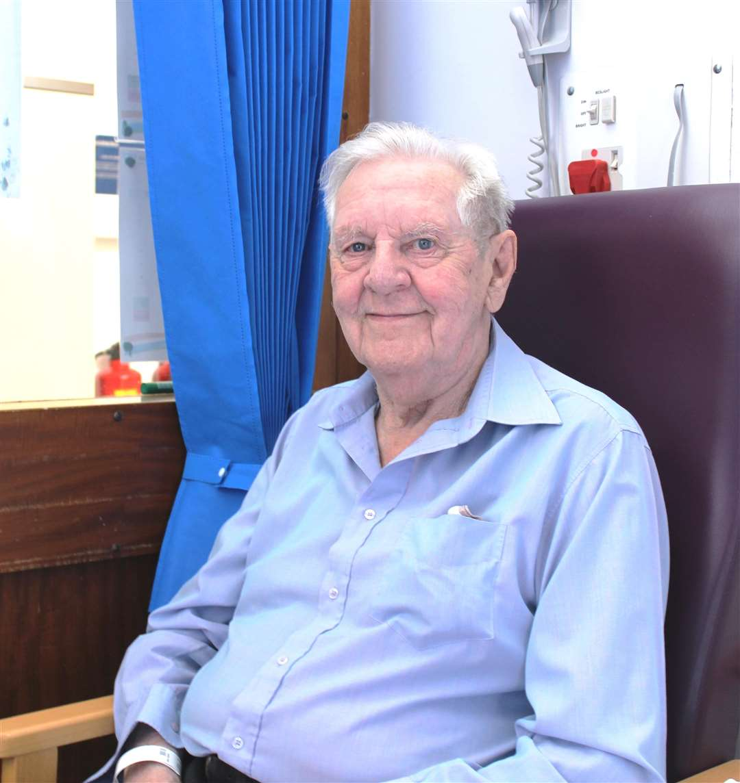 Bob Yearby, who worked on the original West Suffolk Hospital build, has returned to the site on the 70th anniversary of the NHS. (2905000)