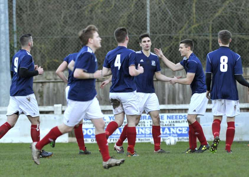 GOING UP: Long Melford were promoted from the Thurlow Nunn League First Division on Saturday