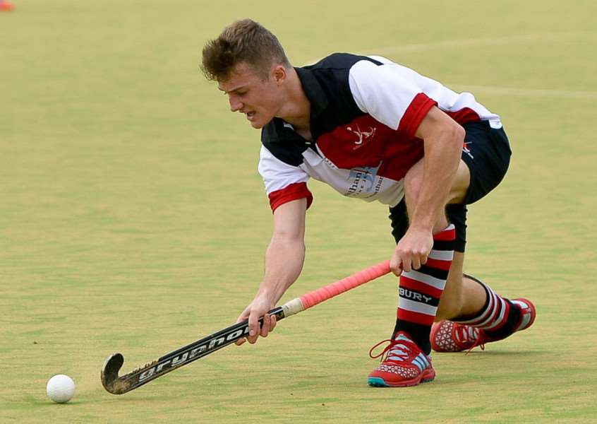 FIRST WIN: Action from Sudbury Men's I's opening day victory over Cambridge III at Great Cornard