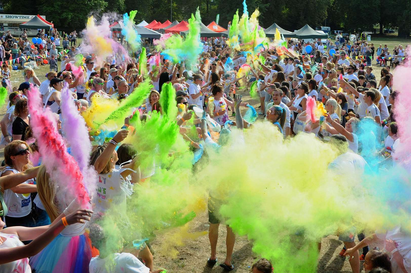 The finale of the sixth Fuzion Thetford event saw bursts of powdered paint fly into the air and cover the participants during the paint fight in the main arena PICTURE: Mecha Morton