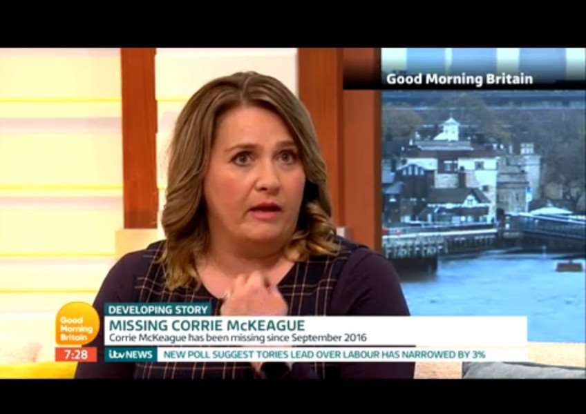 Coorie McKeague's mum Nicola Urquhart on ITV's Good Morning Britain today