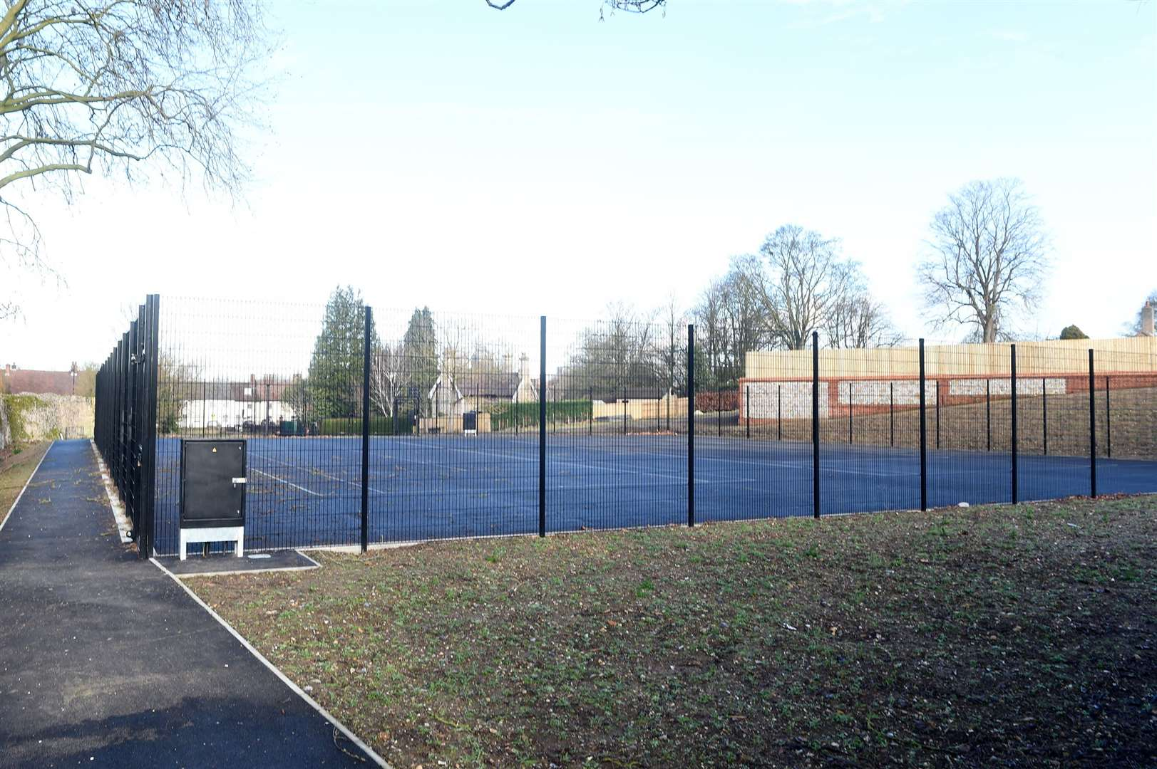 Abbey Gardens - new tennis courts. Picture: Mecha Morton