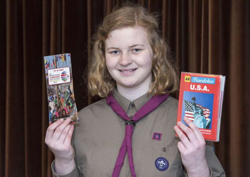 Elizabeth Wright has been chosen to go to the World Scout Jamboree in West Virginia in 2019 Picture Mark Westley