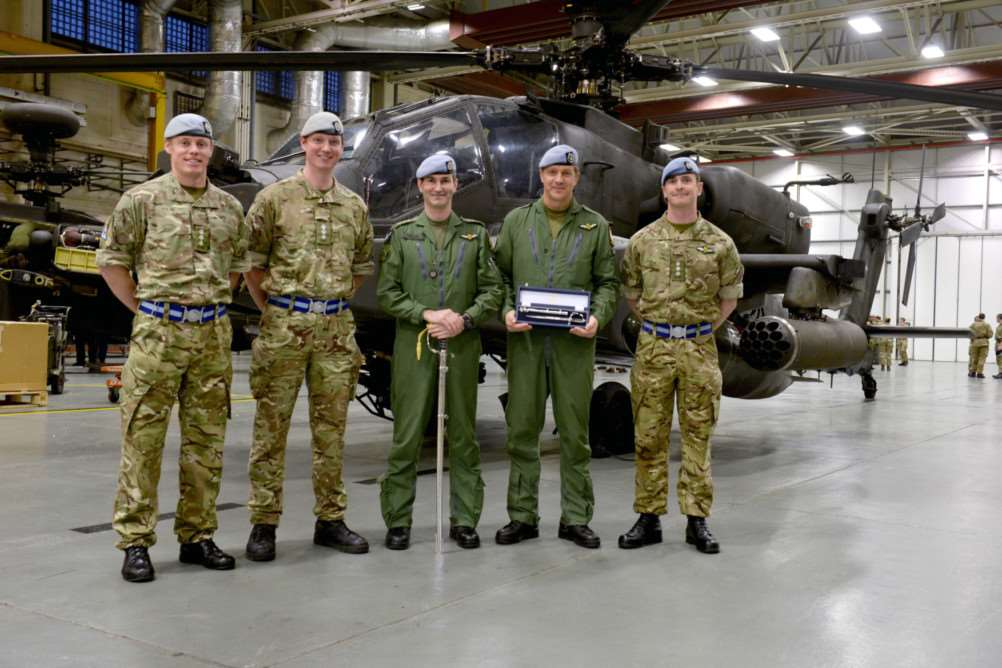 Soldiers at Wattisham Airfield have been honoured for their Apache flying displays. ANL-140212-144716001