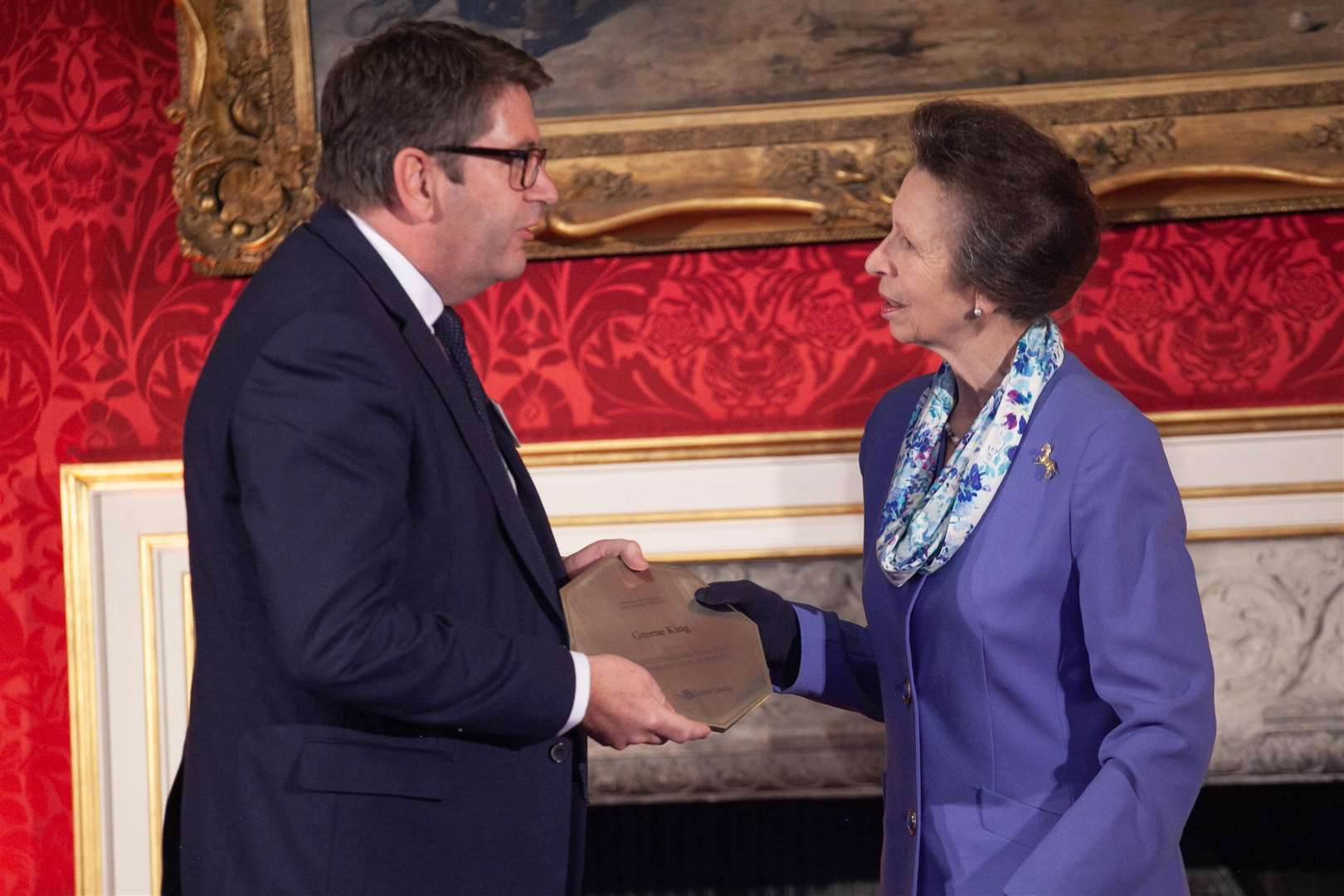 Andrew Bush, Greene King group HR director and HRH The Princess Royal.