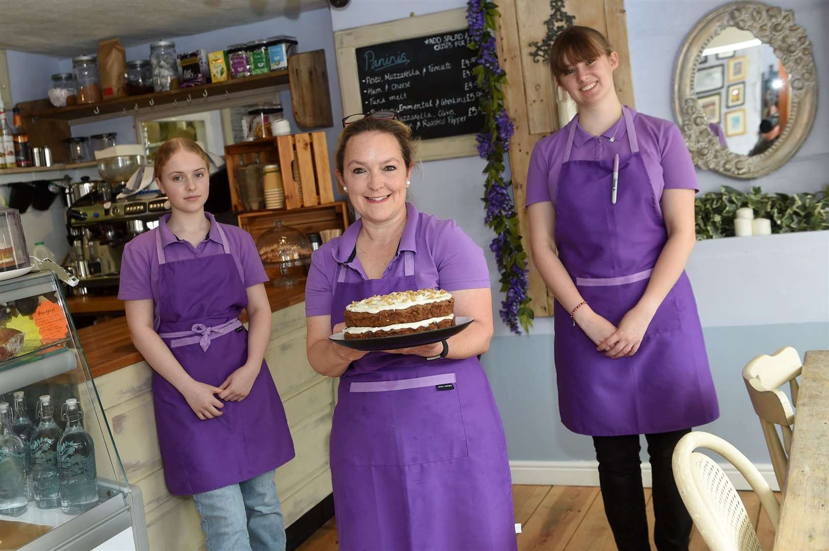 The Boxford River Cafe has opened, offering a range of locally sourced goods, with plans to expand its menu in the future....Pictured:Scarlett Chaytor, Myalee Chaytor and Flockhart.....PICTURE: Mecha Morton.... (38476905)