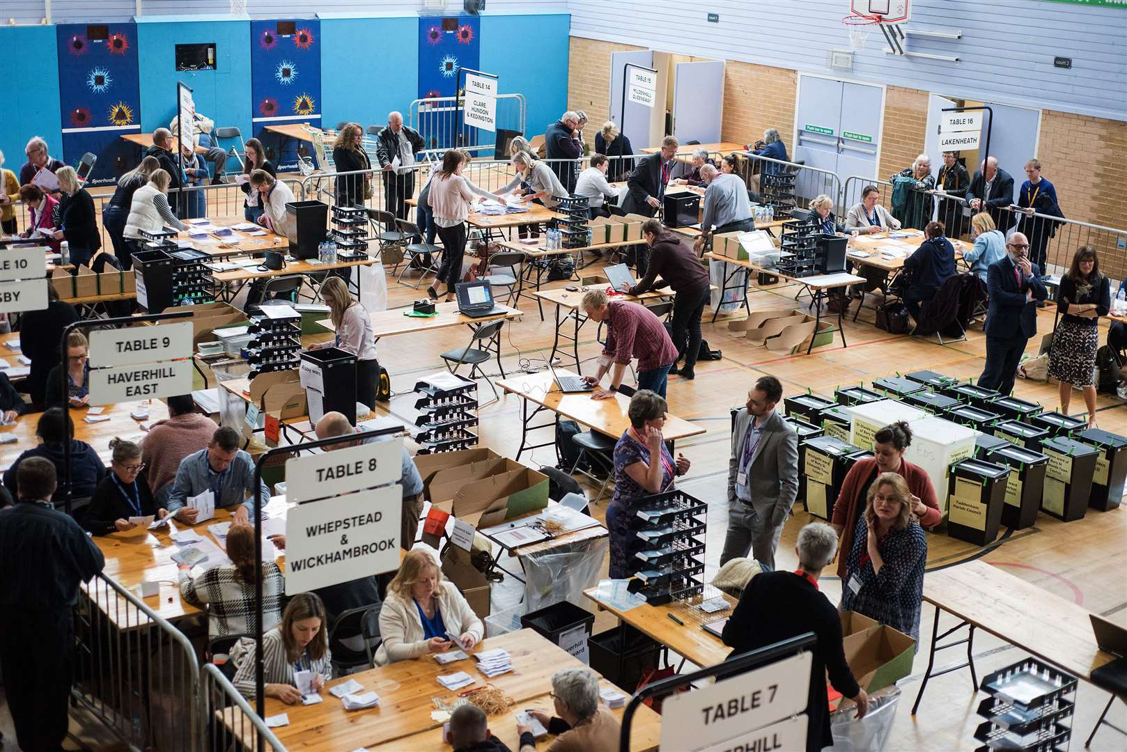 West Suffolk Election count Picture by Mark Westley. (9584250)