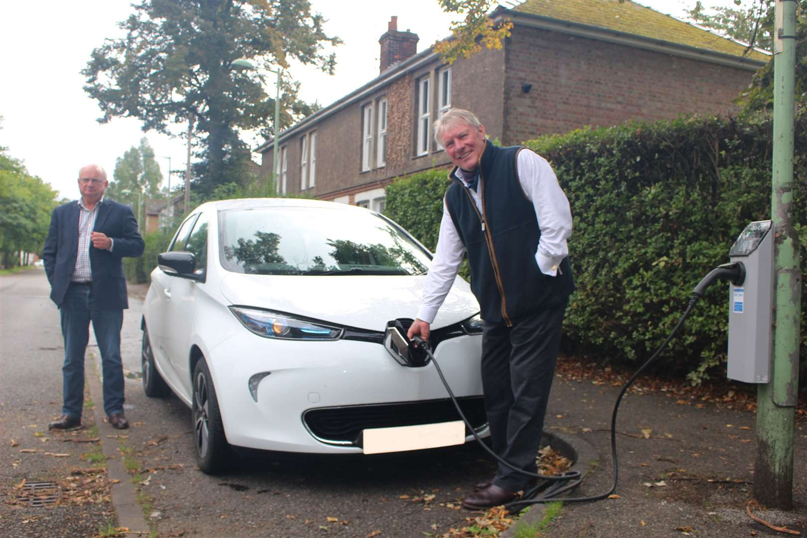 The council has piloted a scheme whereby street lights are being used to charge electric vehicles.