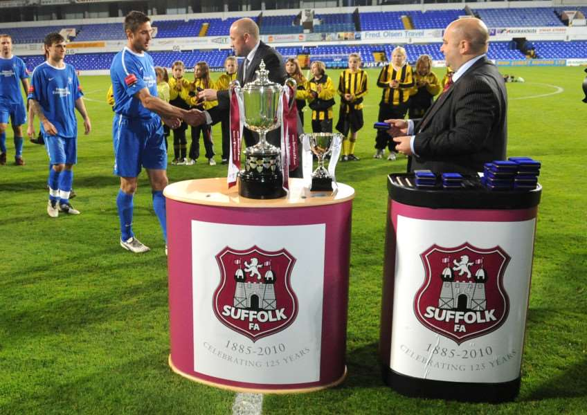 COUNTY CUP: The trophy will be presented at Ipswich's Portman Road