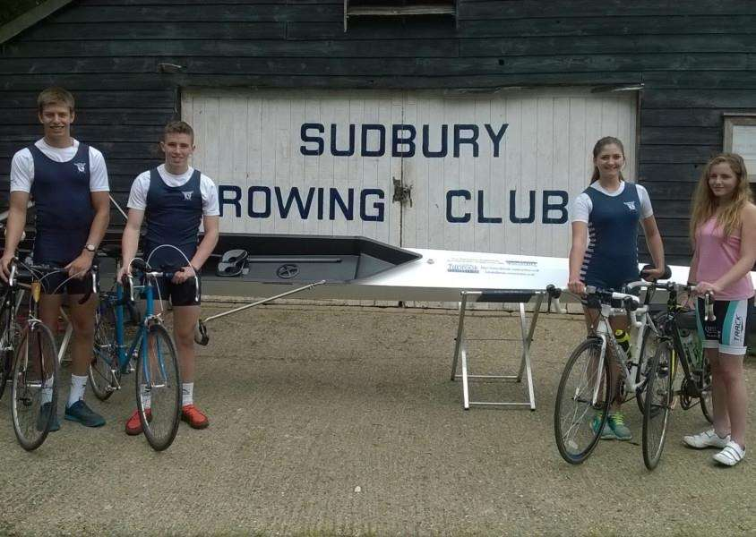 CHARITY RIDE: Four teenage members of Sudbury Rowing Club are to cycle 600-miles to the World Rowing Championships in France in aid of charity. ANL-150825-100301001