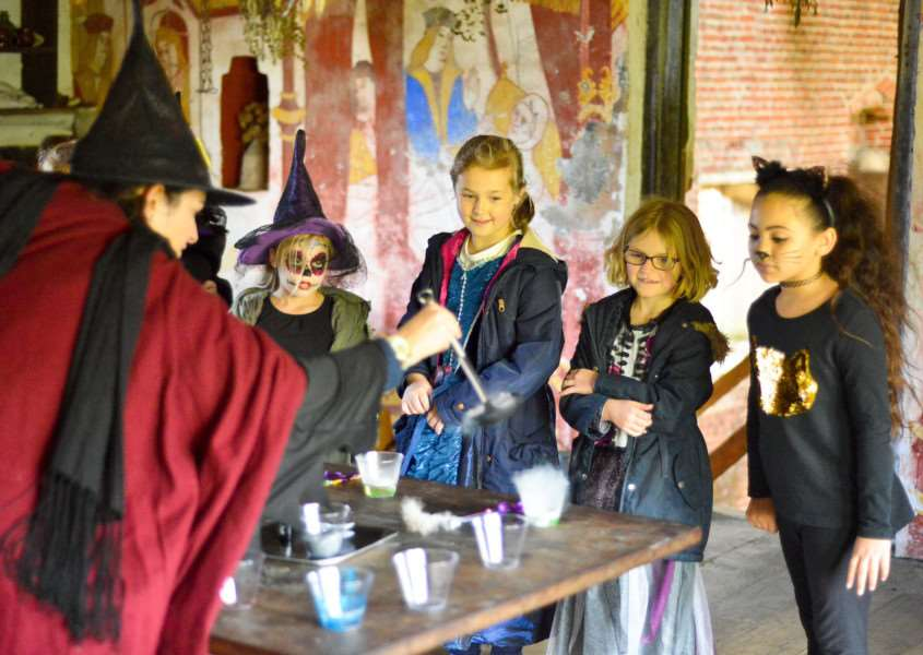 School of Sorcery and Magic at Kentwell Hall in Long Melord. Young sorcerers.