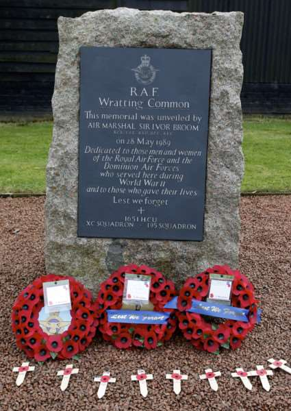 The memorial stone at RAF Wratting Common was unveiled in 1989. ''Picture: MARK BULLIMORE ANL-161113-204155009