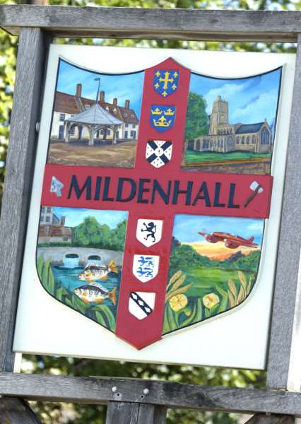 Mildenhall Town Sign.