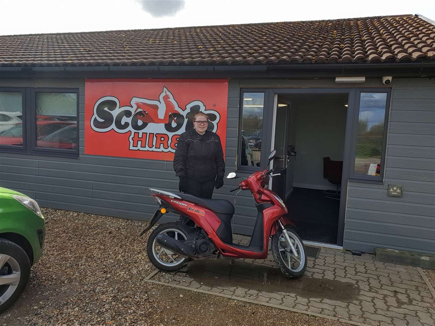 Charlotte Hayes, 18, of Dereham, who uses a Scoots Hire vehicle to get to and from work. (8261169)