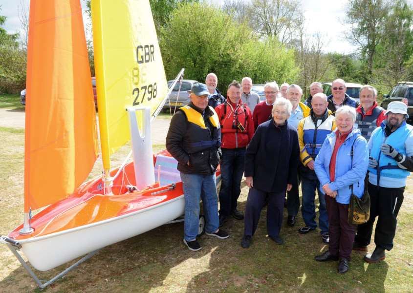WASH Sailability, based at Lackford Lakes, launches new boat, funded by a St Edmunds Trust grant