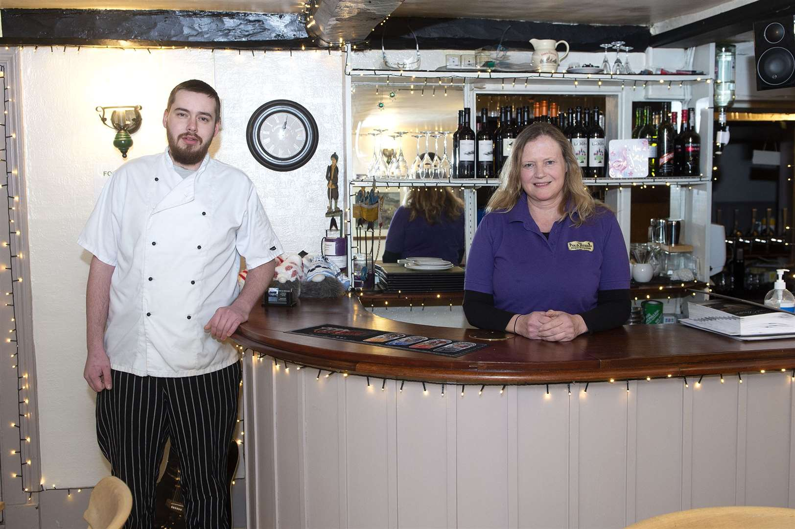 The Fox and Hounds owner Kate Irwin along with head chef David Jackson. Picture by Mecha Morton
