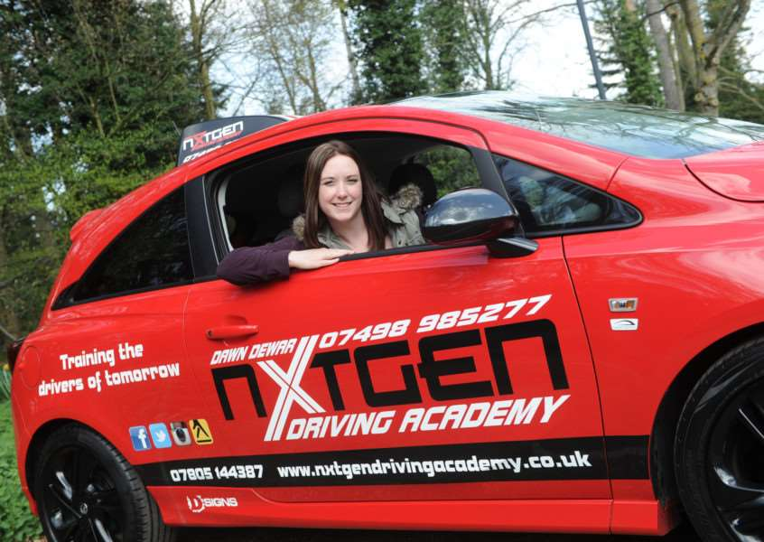 Former beauty therapist Dawn Dewar has turned driving instructor''''PICTURE: Mecha Morton