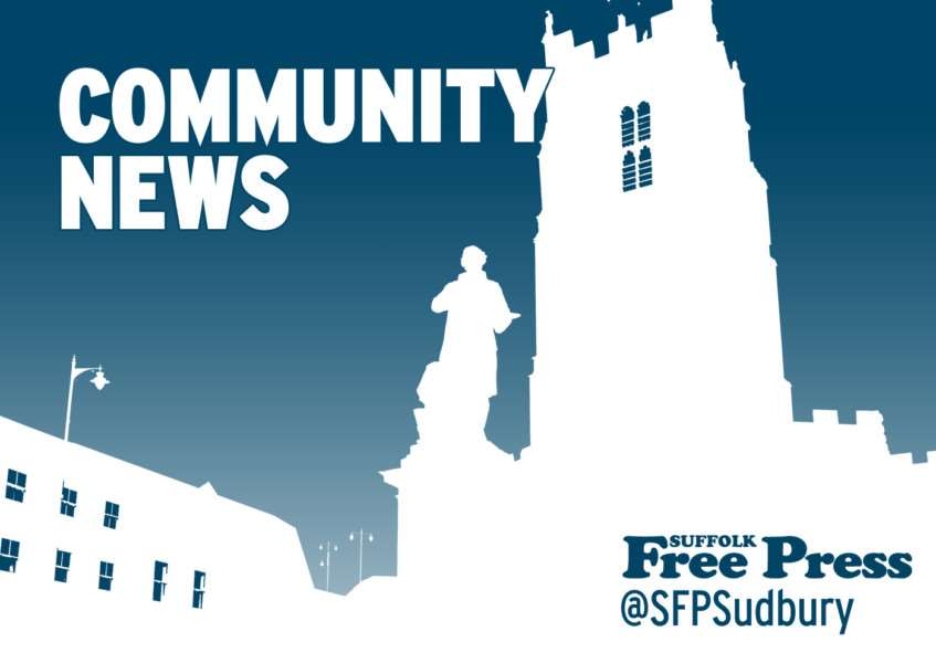 Latest community news from the Suffolk Free Press, suffolkfreepress.co.uk, @sfpsudbury on Twitter