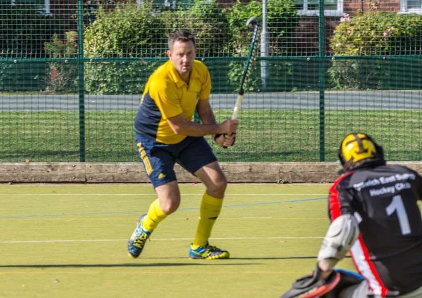 ON TARGET: Simon Harrington scored for Newmarket Men's II. Picture: April Urquhart