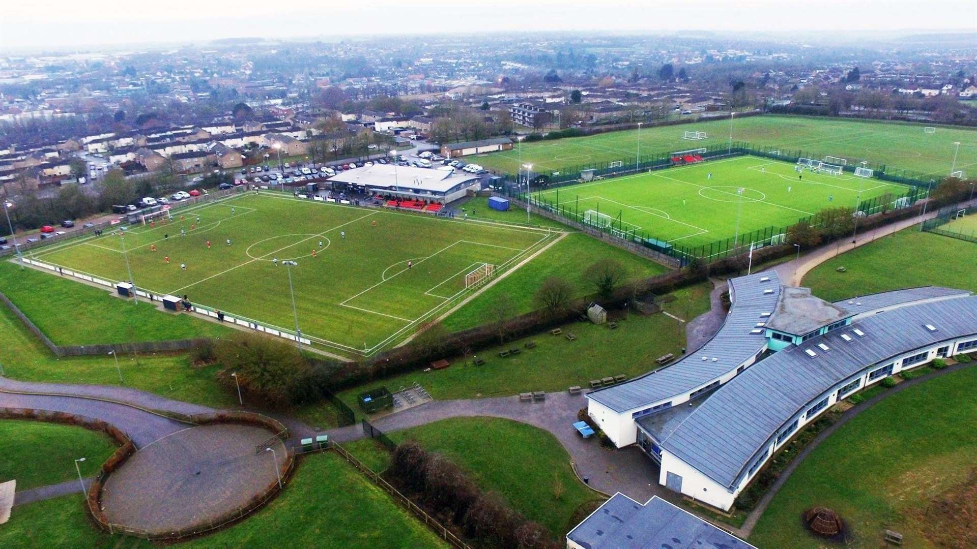 CLOSEST RIVALS IN FA CUP? Haverhill Rovers and Haverhill Borough are New Croft neighbours, but do not pitch share in an unusual set-up