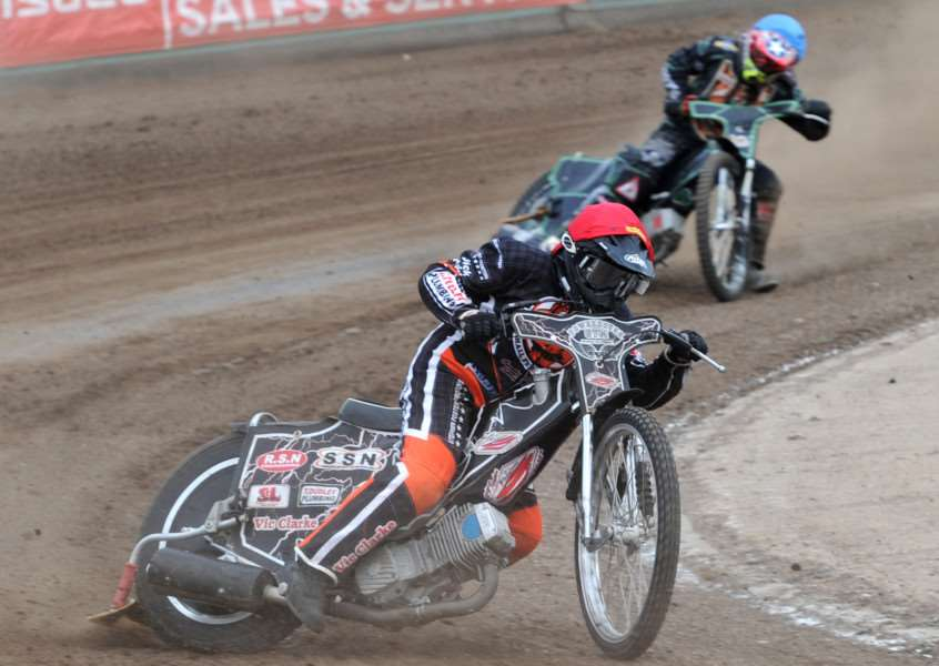 HOPES CRUSHED: Skipper Jon Armstrong is trying to remain in upbeat mood after the Mildenhall Fen Tigers saw their play-off chances all but ended following a defeat to the Eastbourne Eagles.