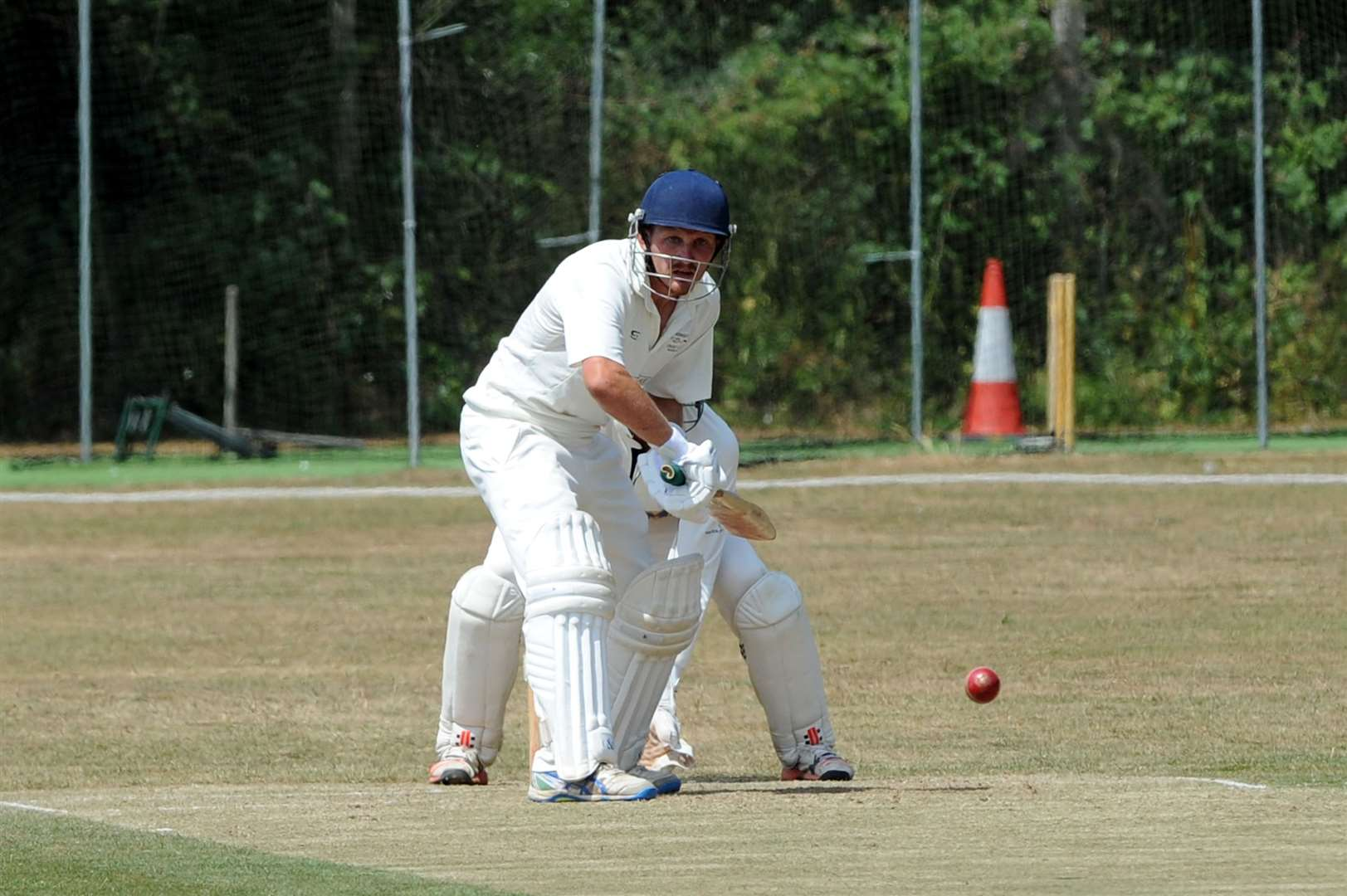 CRICKET - Haverhill (Bowling) v Lakenheath (Batting)...Pictured: Shane Leech....PICTURE: Mecha Morton. .. (8673683)