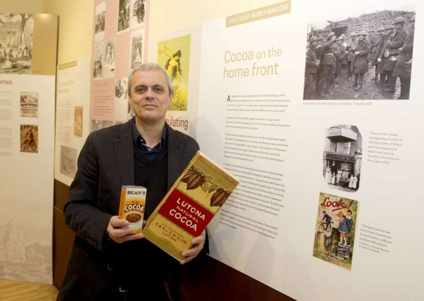 Marimba Chocolate shop has opened a new hot chocolate museum (first in the counry|) ''Pictured: David Wright (owner) ANL-171001-121359009