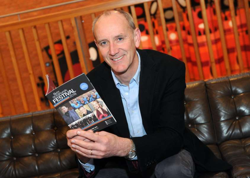 Bury Festival Manager Nick Wells with the festival brochure.'''Picture: Mecha Morton.