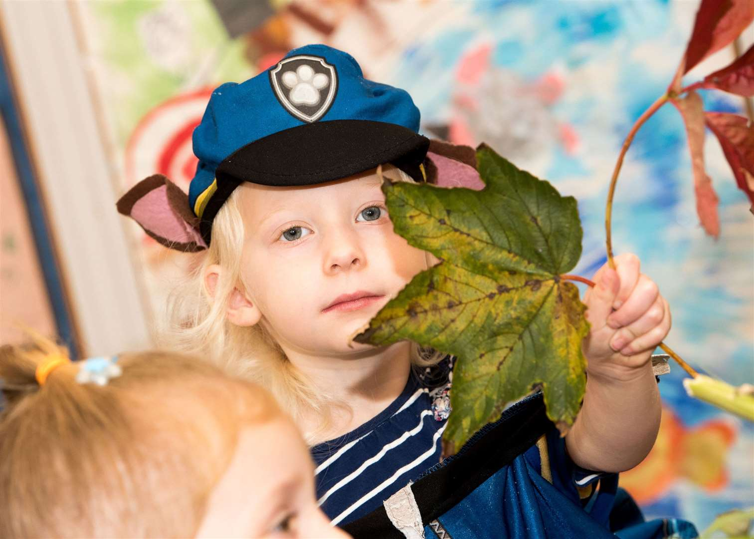 SUDBURY.Playbox pre-school, St John's Church Community Centre, York Rd, Sudbury.Children at Playbox pre-school making autumn-themed collages. Picture by Mark Westley. (18275373)