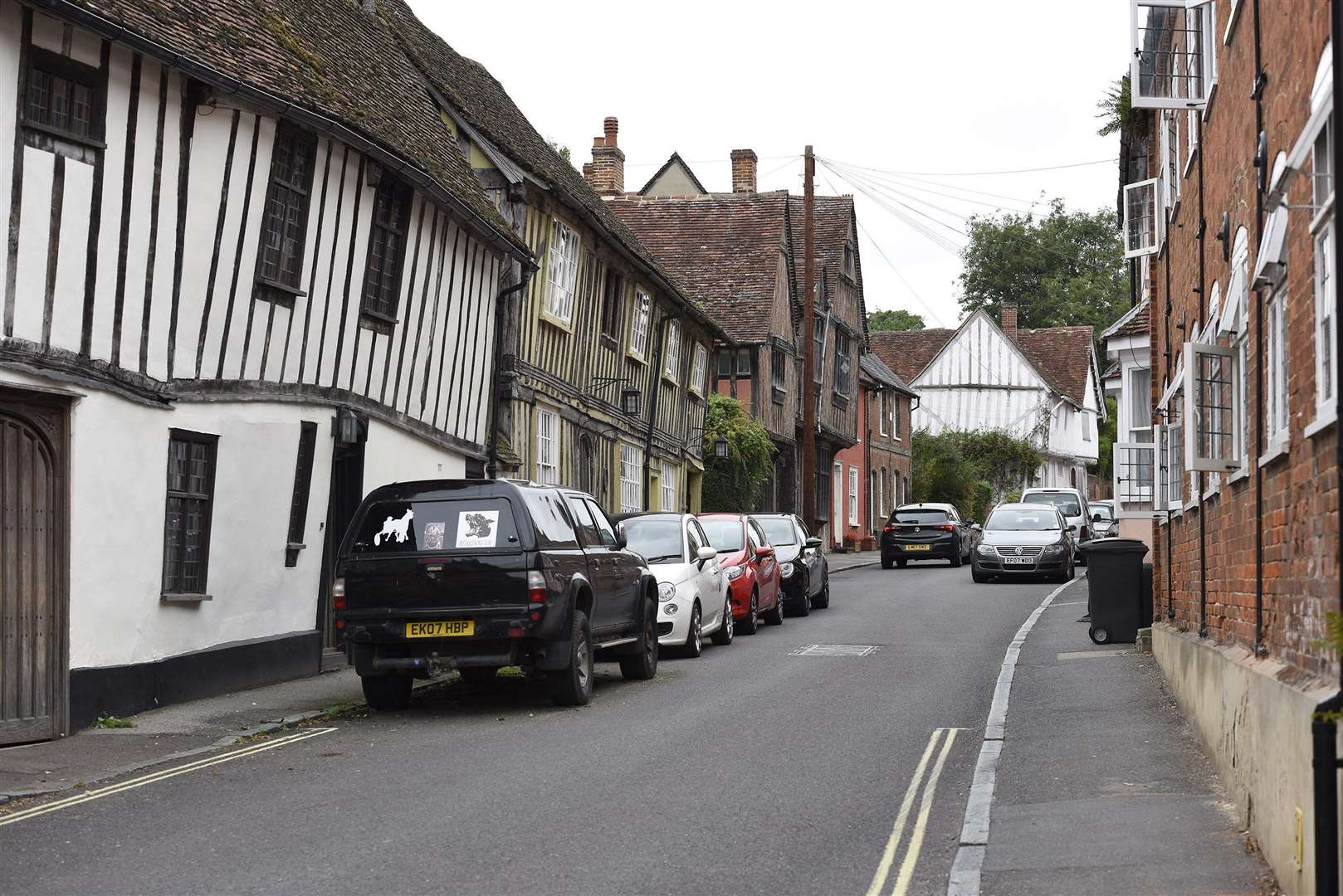 LAVENHAM..Water Street, Lavenham..Calls for a vehicle weight restriction to be introduced at Water Street in Lavenham have increased, after a property was recently damaged by a HGV...Picture Mark Westley. (2763368)