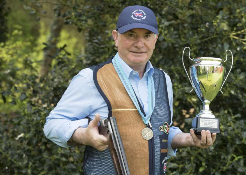 BAYTHORNE END: Frank Haigh with his bronze medal from the European shooting championships'Picture Mark Westley ANL-160905-095001009