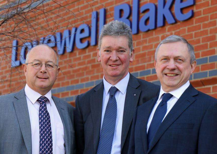 Lovewell Blake partner David Buller (centre) welcomes Adrian Izod (left) and Chris Bassett to the firm's Bury St Edmunds office. Photo: Andy Newman.