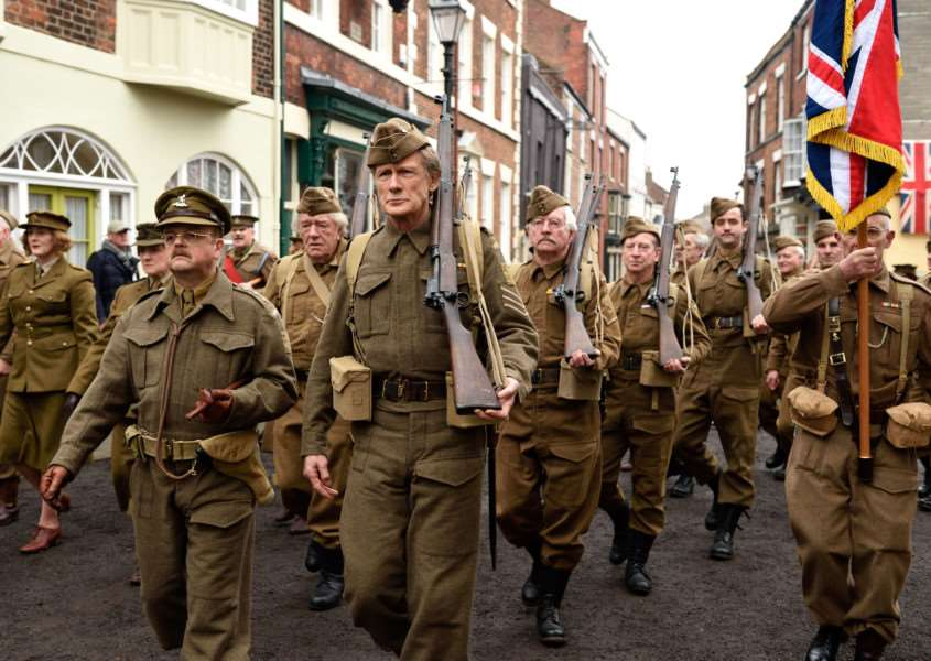 A scene from the new Dad's Army film. ANL-160802-100024001