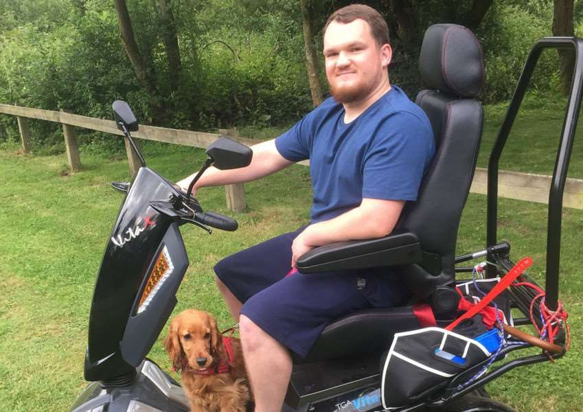 Royal Navy veteran Scott Stafford, of Long Melford, given new lease of life after being donated a mobility scooter.