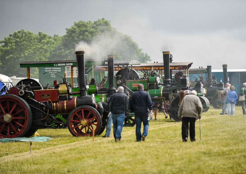 Long Melford Hall hosts its annual vintage rally 2014.FL; ANL-140507-131002009