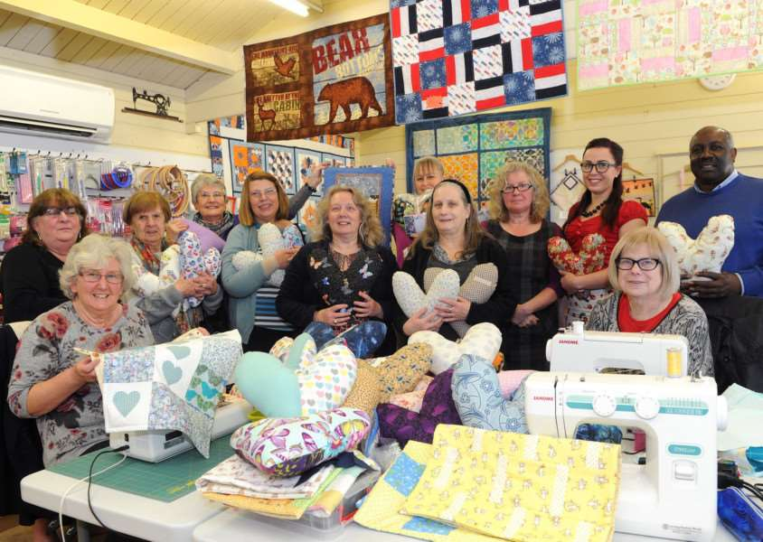 Heart cushions and quilts are being made for West Suffolk Hospital