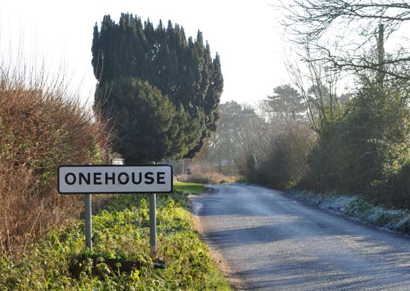 Mid Suffolk District Council has voted to extend Stowmarket's town and boundaries''Pictured: Onehouse village sign ANL-141230-130418009
