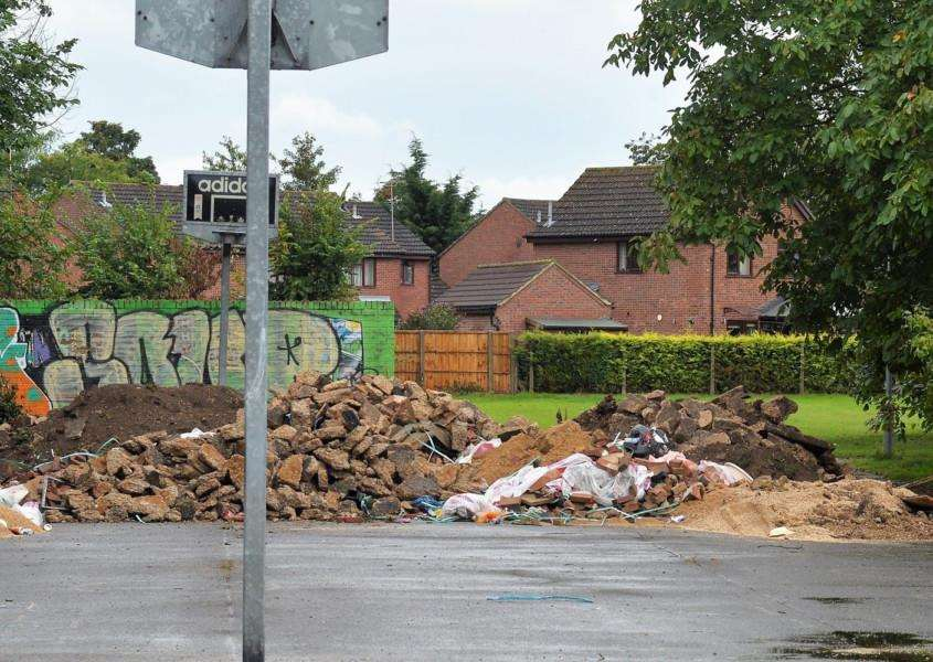 The former St Felix Middle School site in Newmarket after the majority of travellers had left