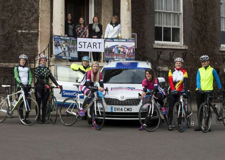 The official launch of the opening stage of the Friends Life Women's Tour cycle race in Angel Hill. ANL-150903-153058001