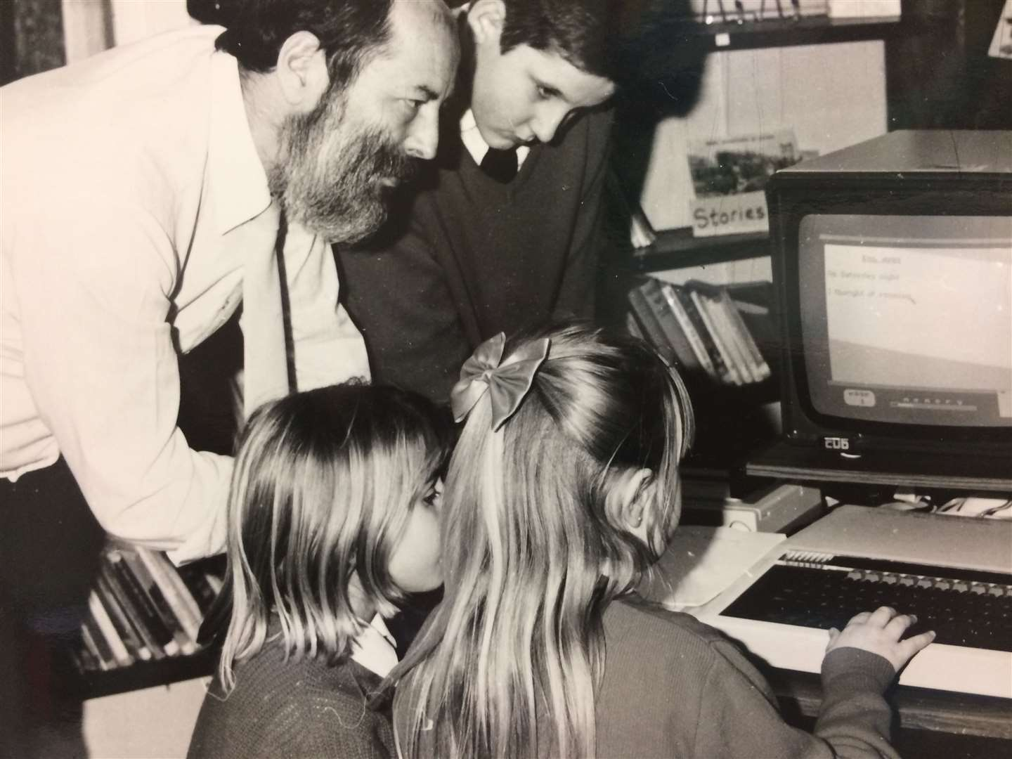 Pupils get to grips with the BBC Micro - cutting edge at the time