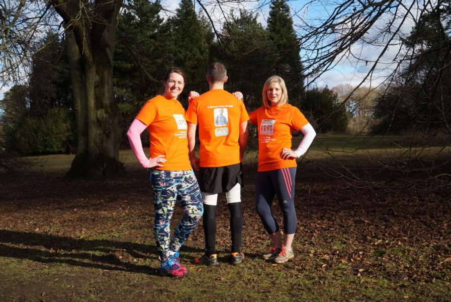 Beckie Egan, John De Luca and Rosalyn Smith will be taking part in the Halstead and Essex Marathon on May 7 to raise funds for the Ben Wragge Skate Park
